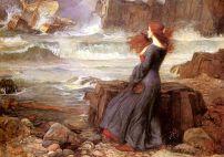 Waterhouse, Miranda dans l'orage, 1916 (La Tempête)